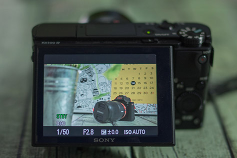 Focus Peaking berfungsi untuk memberi highlight pada bagian yang fokus. Saat berguna saat kita melakukan manual focusing.